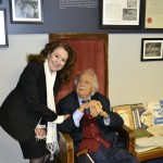 Reeva Forman with Advocate George Bizos