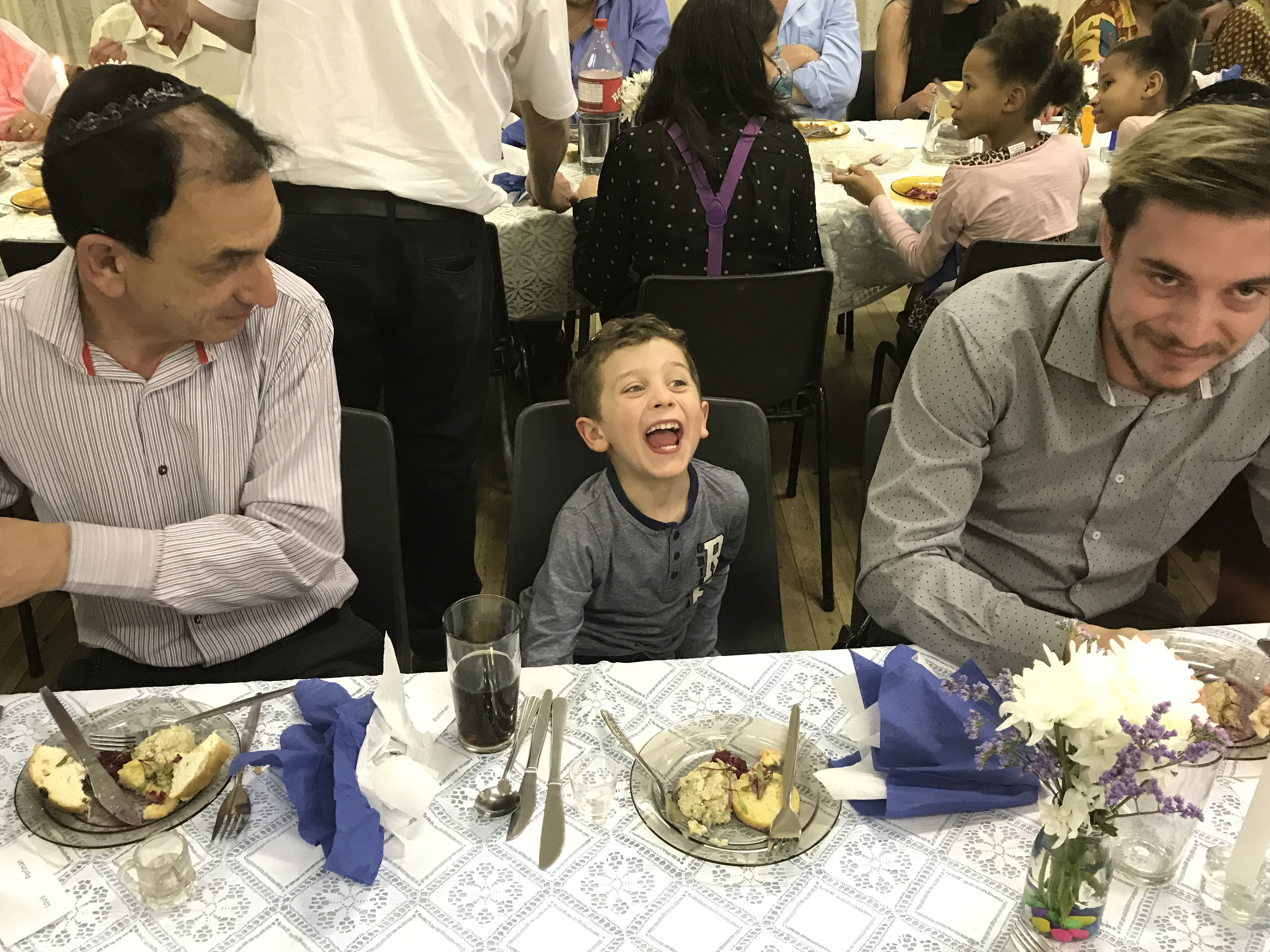 Louis and Gabriel perlman with Eitan